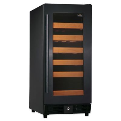 Kingsbottle 25-Bottle Single-Zone Wine Cooler in Black