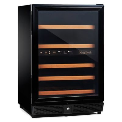 Kingsbottle 50-Bottle Dual-Zone Wine Cooler in Black