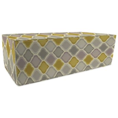 Outdoor Double Pouf Ottoman in Sunbrella® Empire Dawn