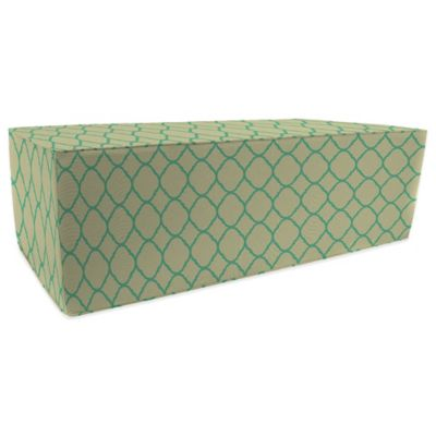 SUNBRELLA® Outdoor Double Pouf Ottoman in Accord Jade