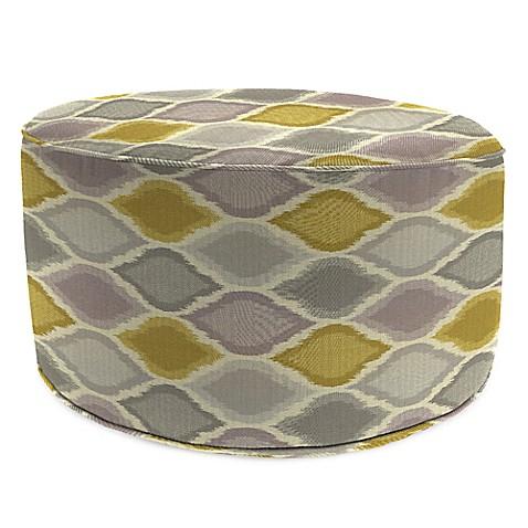 Buy outdoor round pouf ottoman in sunbrella empire dawn for Ulani outdoor round pouf ottoman