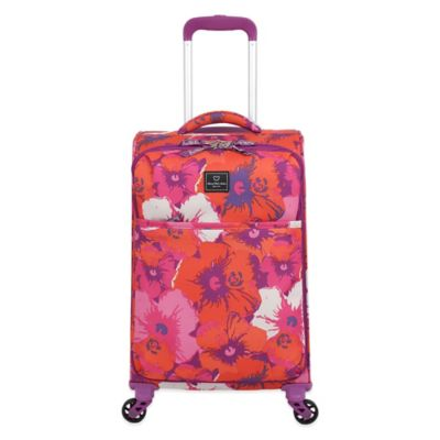 French West Indies 20-Inch Carry-On Spinner in Purple Floral