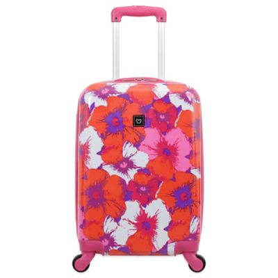 French West Indies 20-Inch Hardside Spinner in Purple Floral