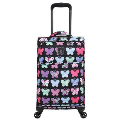 French West Indies 20-Inch Lightweight Carry-On Spinner in Papillon