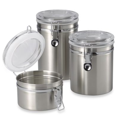 Oggi™ 60-Ounce Brushed Stainless Steel Canister