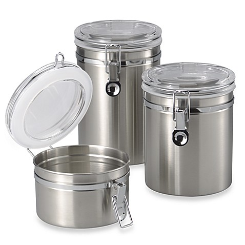 Oggi Brushed Stainless Steel Canister Www