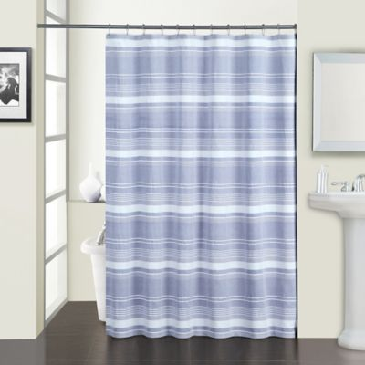 Melange Shower Curtain in Navy