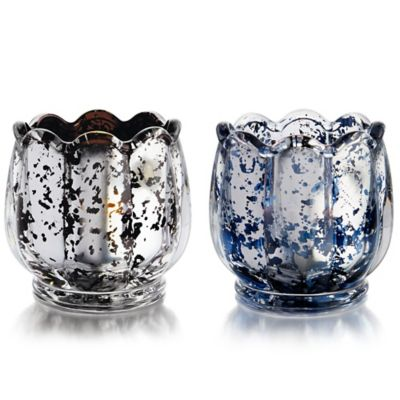Fitz and Floyd® Flower Votive Holder in Black