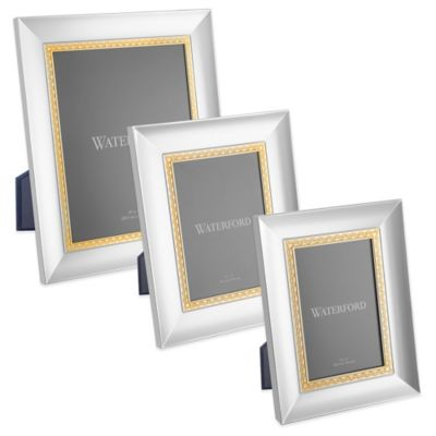 Waterford® Lismore Lace 4-Inch x 6-Inch Frame in Gold
