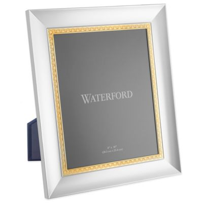 Waterford® Lismore Lace 8-Inch x 10-Inch Frame in Gold