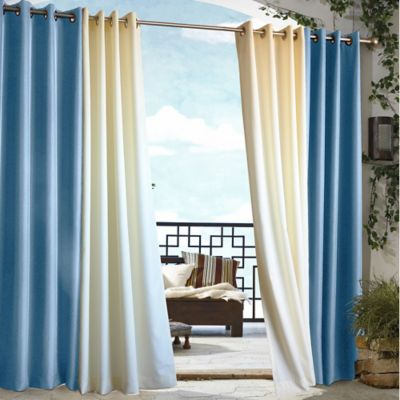 Commonwealth Home Fashions 84-Inch Gazebo Outdoor Curtain in Orange
