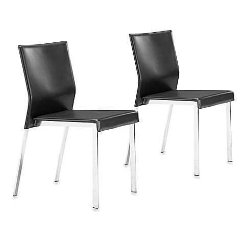 Zuo® Modern Boxter Dining Chair in Black (Set of 2)