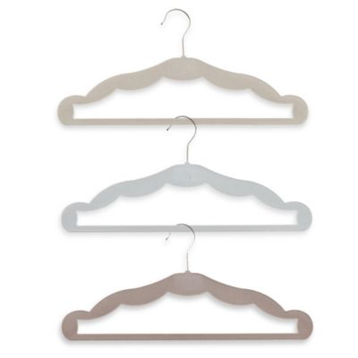 Barbara Barry® 8-Pack Velveteen Suit Hangers in Cool Grey