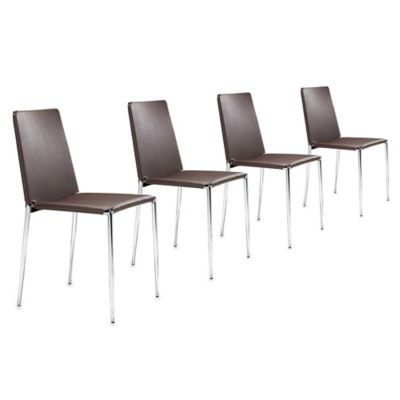 Zuo Alex Dining Chairs in Espresso (Set of 4)