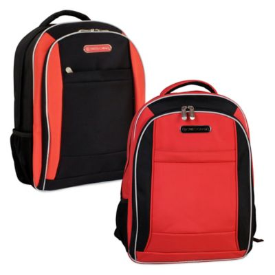 Swiss Cargo SCX21 18-Inch Backpack in Red/Black
