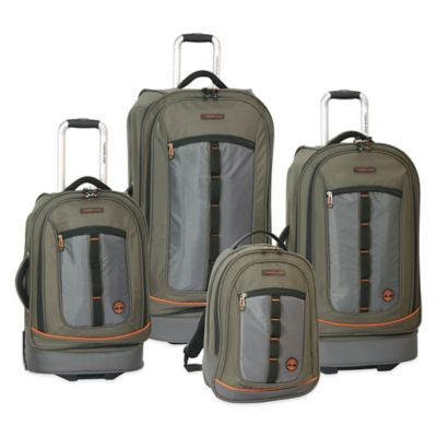 Timberland® Jay Peak 4-Piece Luggage Set in Burnt Olive