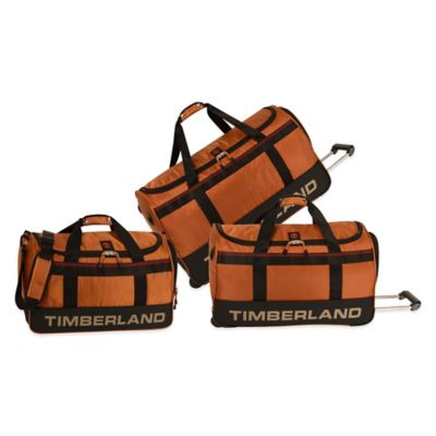 Timberland Kangamangus 3-Piece Wheeled Duffle Set in Orange