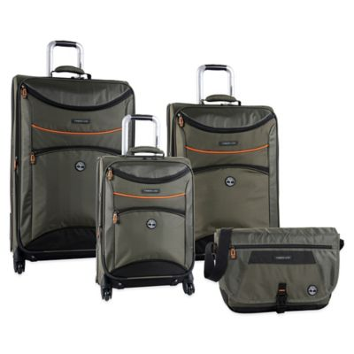 Timberland® Route 4 4-Piece Luggage Set in Olive