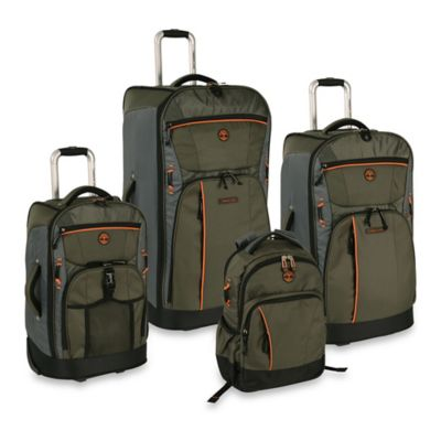 Timberland Danvers River 4-Piece Luggage Set in Olive/Grey