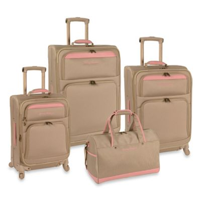 Tommy Bahama® Bahama Mama 4-Piece Luggage Set in Champagne/Pink