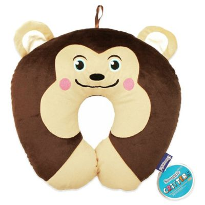 Snuggie Critter Travel Monkey Pillow
