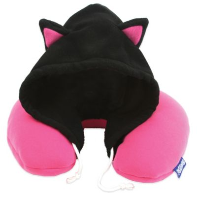 Snuggie Critter Hoodie Cat Travel Pillow
