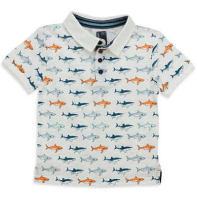 Sovereign Code™ Size 3-6M Shark Short-Sleeve Polo Shirt