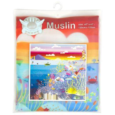 Weegoamigo Rainbow Reef Digital Print Premium Muslin Swaddle