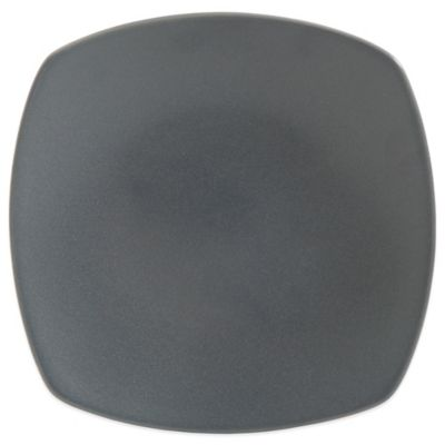 Gibson Paradiso Square Dinner Plate in Grey