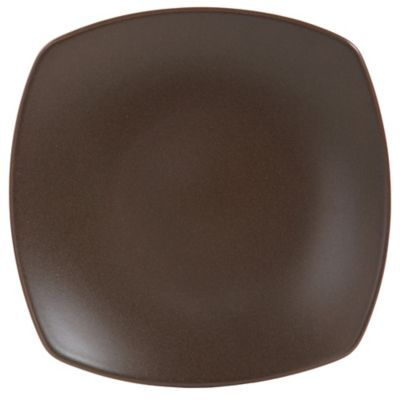 Gibson Paradiso Square Dinner Plate in Brown