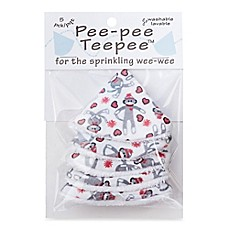 beba bean 5-Pack Pee-Pee Teepee™ in Sock Monkey