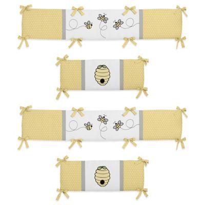 Sweet Jojo Designs Honeybee 4-Piece Crib Bumper Set
