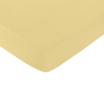 Sweet Jojo Designs Honey Bee Honeycomb Fitted Crib Sheet