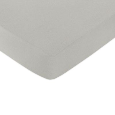 Sweet Jojo Designs Honey Bee Fitted Crib Sheet in Grey