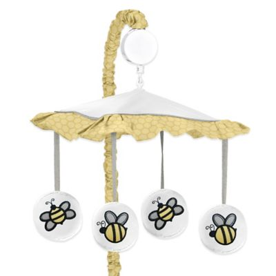 Sweet Jojo Designs Honey Bee Crib Bedding Collection > Sweet Jojo Designs Honey Bee Crib Bedding Musical Mobile