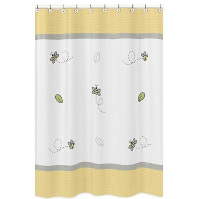 Sweet Jojo Designs Honey Bee Shower Curtain