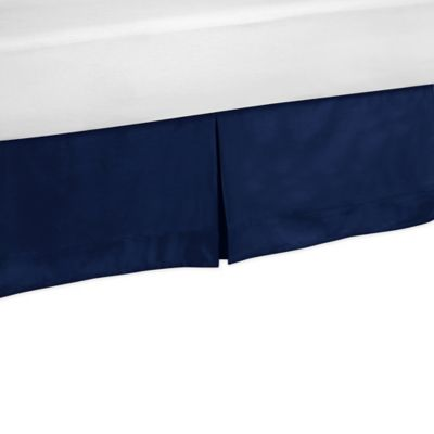 Sweet Jojo Designs Toddler Bed Skirt in Solid Navy