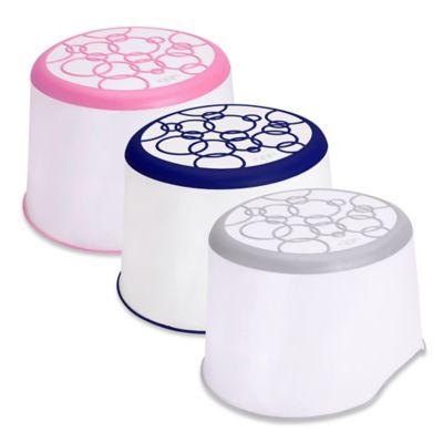 Pearhead Ubbi® Step Stool in White/Navy
