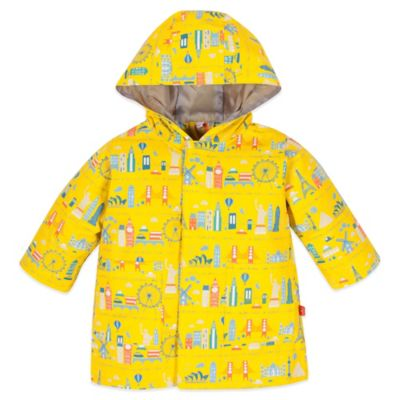 Magnificent Baby® Size 12M World Cities Print Smart Close™ Raincoat in Yellow