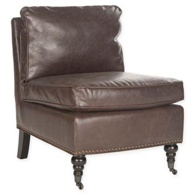 Safavieh Randy Slipper Chair in Antique Brown