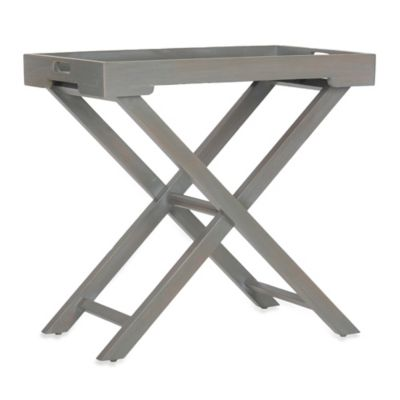 Safavieh Leo Accent Table in Ash Grey