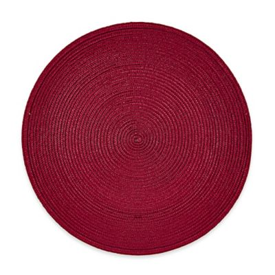 Red Placemat Round Table