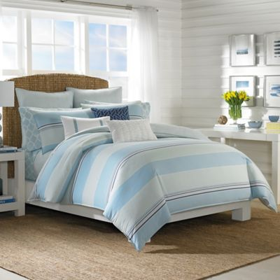 Nautica® Makay Twin Duvet Cover Set in Aqua