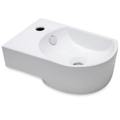 Elanti 1478-R 16-1/4-Inch x 10-3/4-Inch Porcelain Wall-Mount Right-Facing Compact Sink