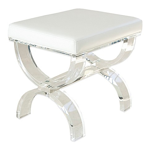 Buy Taymor Urban Modern Acrylic Vanity Bench From Bed Bath Beyond