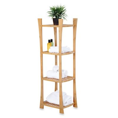 4-Tier Bamboo Towel Shelf