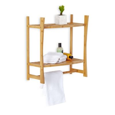 Bamboo Wall Mount Shelf
