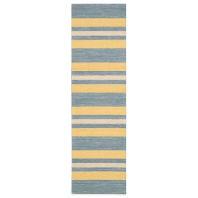 Barclay Butera Oxford Ports 2-Foot 3-Inch x 8-Foot Runner in Blue/Yellow