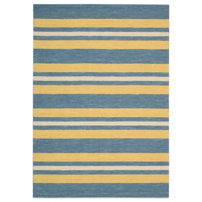 Barclay Butera Oxford Ports 3-Foot 6-Inch x 5-Foot 6-Inch Rug in Blue/Yellow