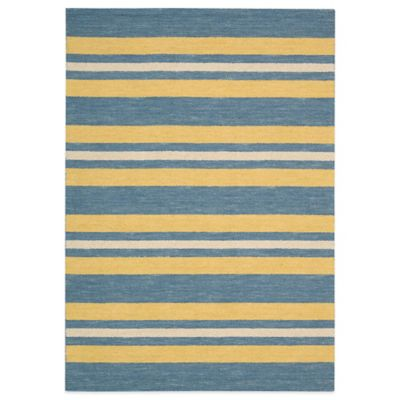Barclay Butera Oxford Ports 5-Foot 3-Inch x 7-Foot 5-Inch Rug in Blue/Yellow